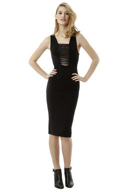 Black Bodycon Dress TALLY WEiJL