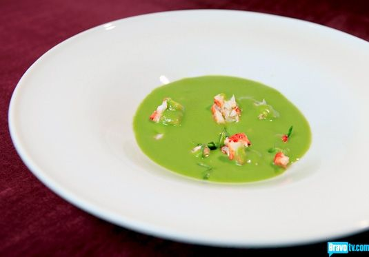 Chef Roble and Co Season 1 - Robles Recipes Chilled Spring Pea Soup, Maine Lobster, Tarragon, Pea Tendrils