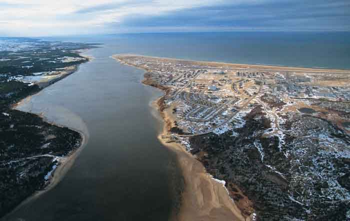 Aerial shot of Great Whale River