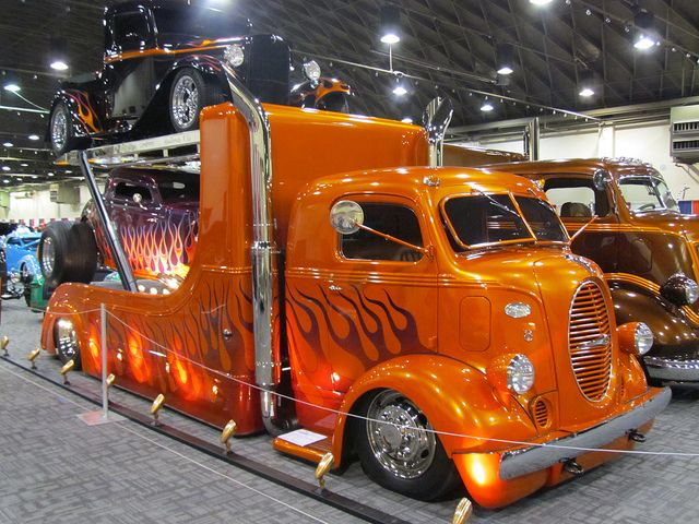 flamed 38 ford COE