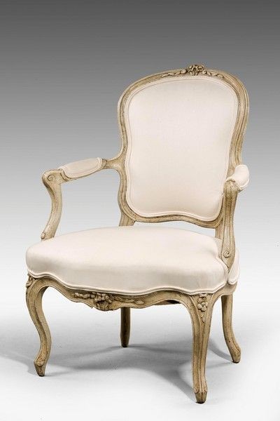 "18th Century Louis XV period Fauteuil Ca1760 France. 35""H x 24""W x 22""D."