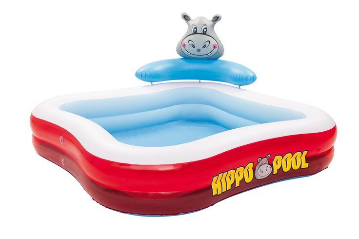 "Bestway 53050 Planschbecken ""Hippo Spray Pool"", 201 x 201 x 91 cm   PLANSCHBECKEN   POOLS & SPA   FREIZEIT   Kajak Kanu Elektromotor bei BeachandPool.de online kaufen"