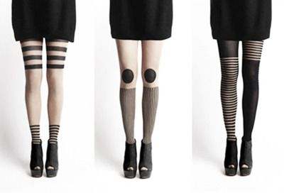 black and white tights  - yes. yes. yes. ///