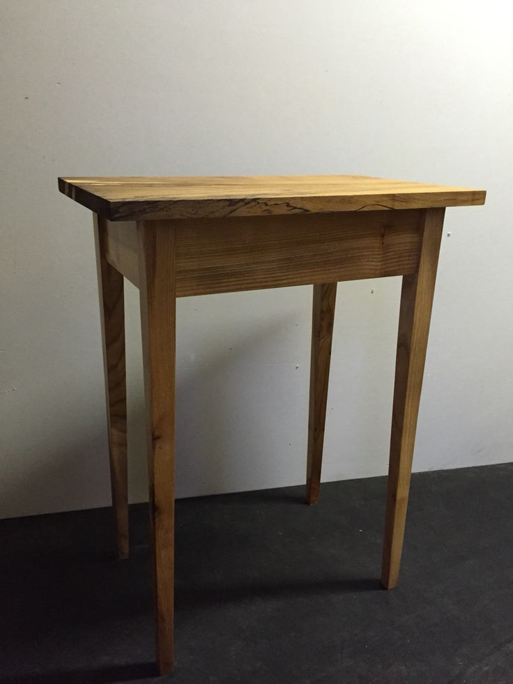 Elm side table with spalted beech top