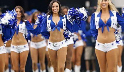 The world famous Dallas Cowboys Cheerleaders!