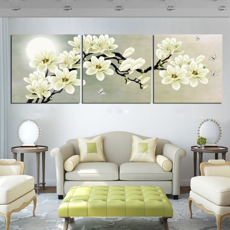 2016 3 Piece Print Painting Abstraction Canvas Wall Art Modern Distinctive Flower Decoration Picture Black And White Picture