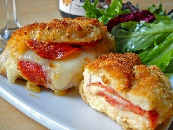 Куриные кармашки с сыром | Про рецептики - лучшие кулинарные рецепты для Вас!