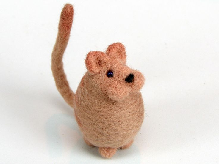 Earthy Colors at DaWanda Other – Needle felted Cat felt animal – a unique product by enebrOso on DaWanda