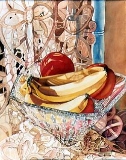 Jane Freeman, Bananas Fostoria, watercolor