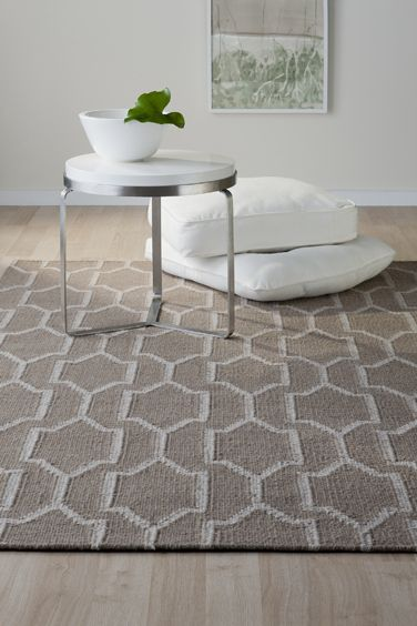 Bayliss Baker Rug Col: Smoke 100% Wool flat weave rug made in India  Available