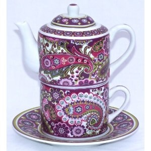 Vera Bradley Fine Porcelain China Tea for One Set