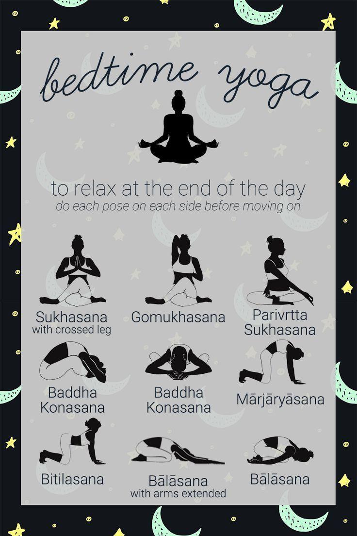 Beenden Sie Ihren Tag mit dieser entspannenden Yoga-Sequenz, um Sie auf den Schlaf vorzubereiten. Rem – fitness exercise motivation