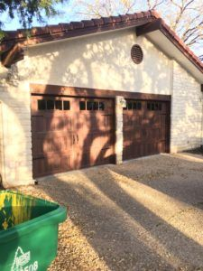 You can see before & after images from a recent CHI Garage Doors Accents Model 5983 Residential Installation in Austin. Call for free estimate 512-563-9078