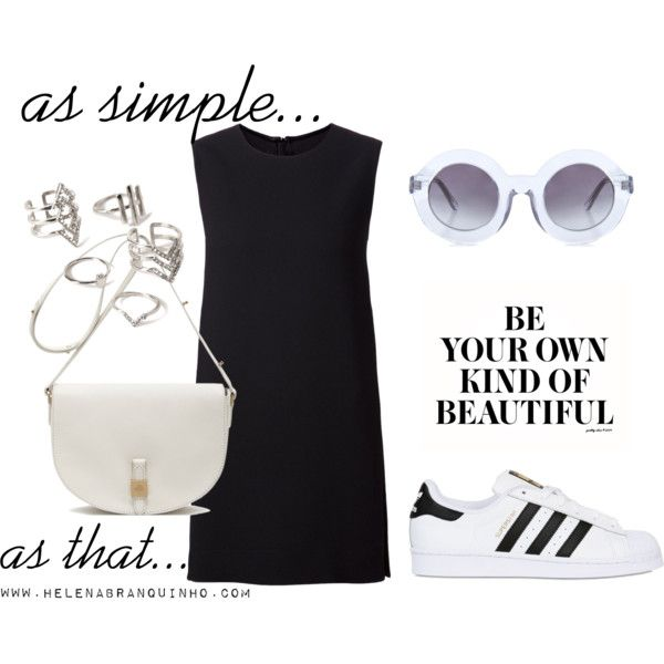 As simple as that by helenabranquinho on Polyvore featuring moda, Rosetta Getty, adidas Originals, Mulberry, Forever 21, Wildfox, blackandwhite and minimal