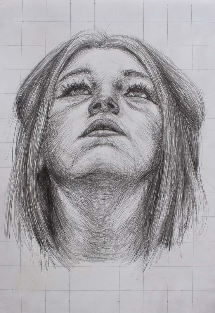 Girl Looking Up Portrait Drawing By Jessica Reeves Http//youngdrawings.com/dan-smith-and-other ...