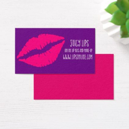 Lipstick online freelance cosmetic business business card  $25.55  by Juicyhues  - cyo customize personalize unique diy idea