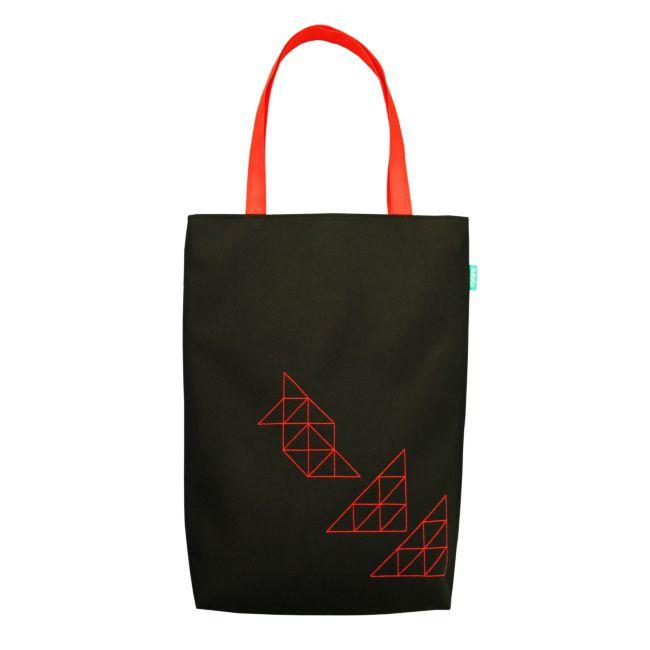 lukola handmade: Czarny shopper TJK 09 // Black shopper bag TJK 09