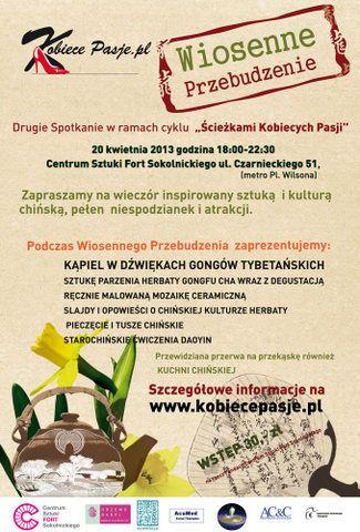 Wiosenne Przebudzenie - wieczór inspirowany Dalekim Wschodem - Warszawa - Informator Kulturalny Gdzieco.pl
