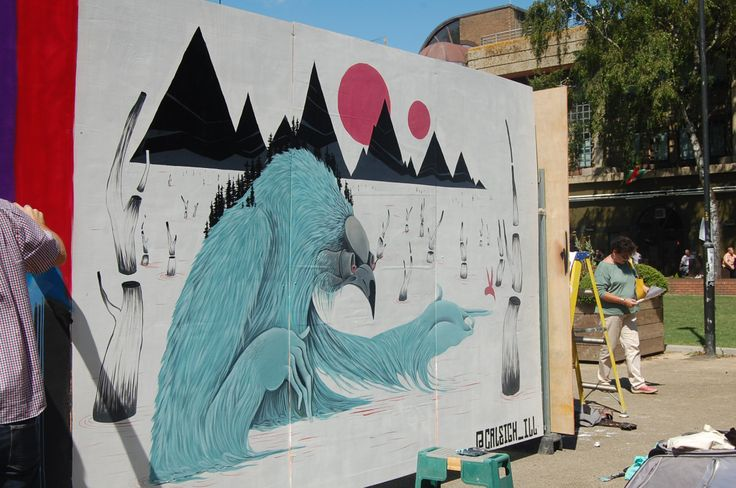Gloucester Paint Jam 2-3 August 2014 #streetart #Graffiti Festival King's Walk