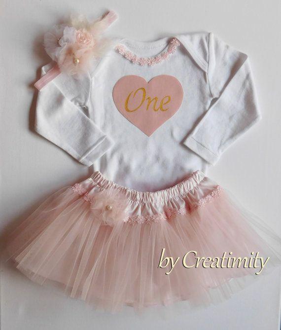 First birthday outfitpink tutuballerina by CreatimityElegance