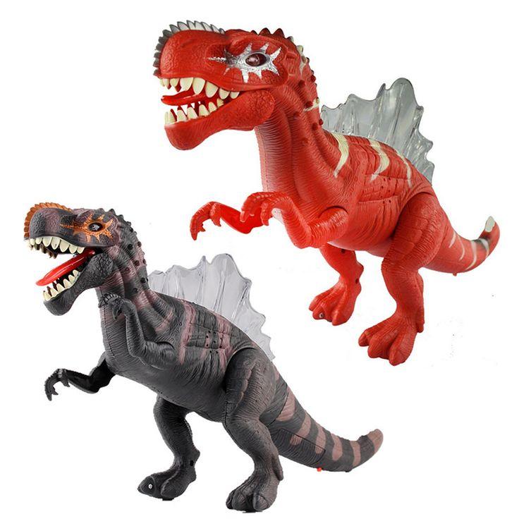 Cool 17'' Kids Favourite Dinosaur Model Birthday Gift Electronic Sounding Flashing Moving Dinosaur Toys for Chilren