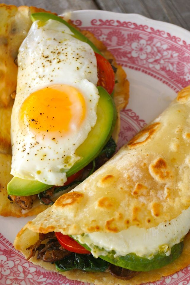 The Breakfast Taco-fried eggs-yellow-tortilla-red   cookingontheweekends.com