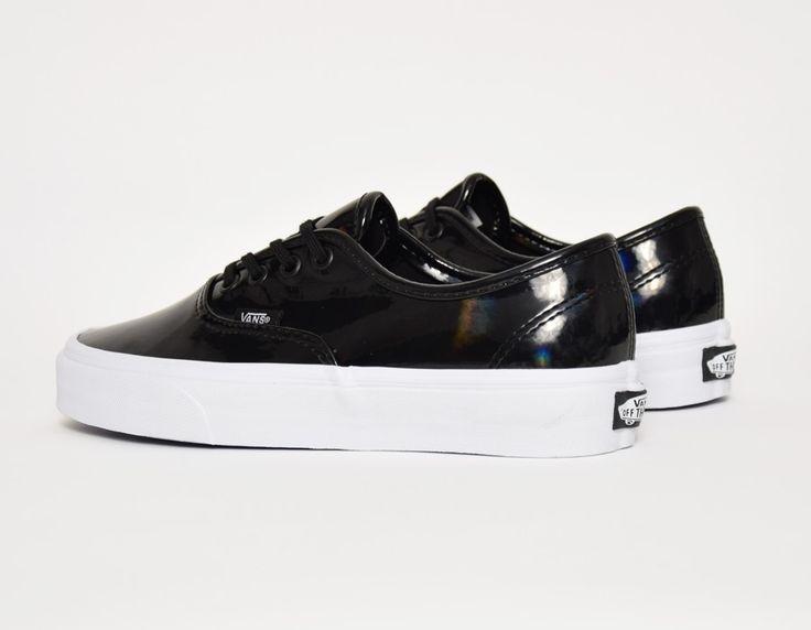 vans black leather shoes