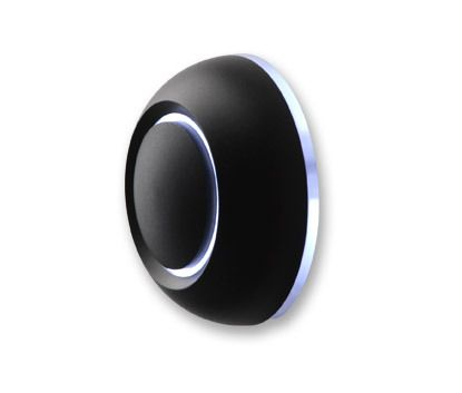 Contemporary Illuminated LED Doorbell, Black True Door Bell from Spore Inc - Pure Modern Outdoor & Home Accessories
