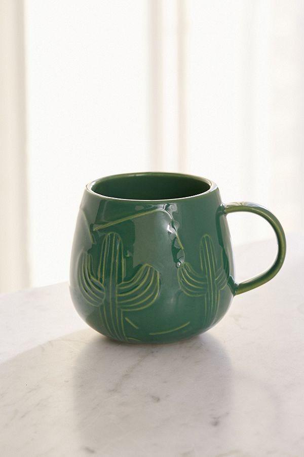 Etched Cactus Mug