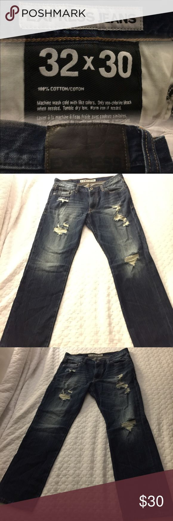 Express kingston 32 30 Kingston Classic Fit Straight Leg Express jeans distressed dark wash size 32 30 EUC never been washed. smoke free pet free home #express jeans #men express jeans# dark wash # distressed # boot cut straight fit mens jean (Shop and feel good about it 😁. Part of the money u spend goes to Purple Heart Foundation 💜)s Express Jeans Straight