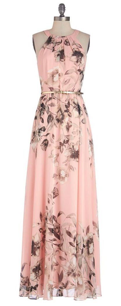 oh what a beautiful pink maxi dress love the detail I want this