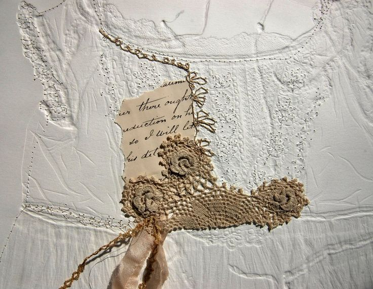 Memento Mori - Mandy Pattullo - blind embossing of garments with added touches of stich and fragments of fabic
