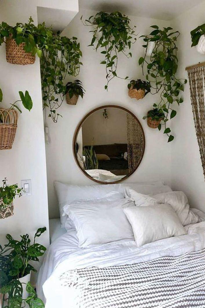 Geflochtene Körbe sorgen für innere Ziele – Schlafzimmer einrichten