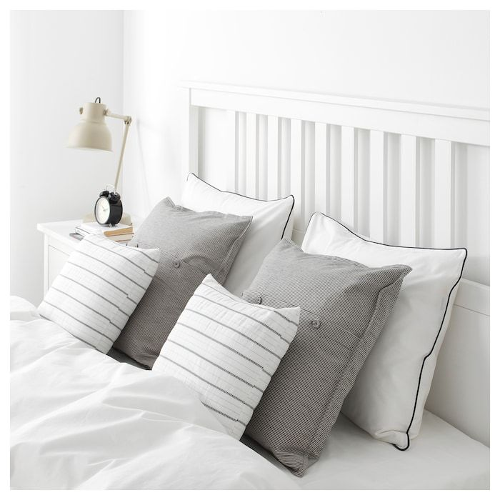 Konstanse Cushion White Dark Gray 16x16 Cushions Ikea Small Sofa Cushions