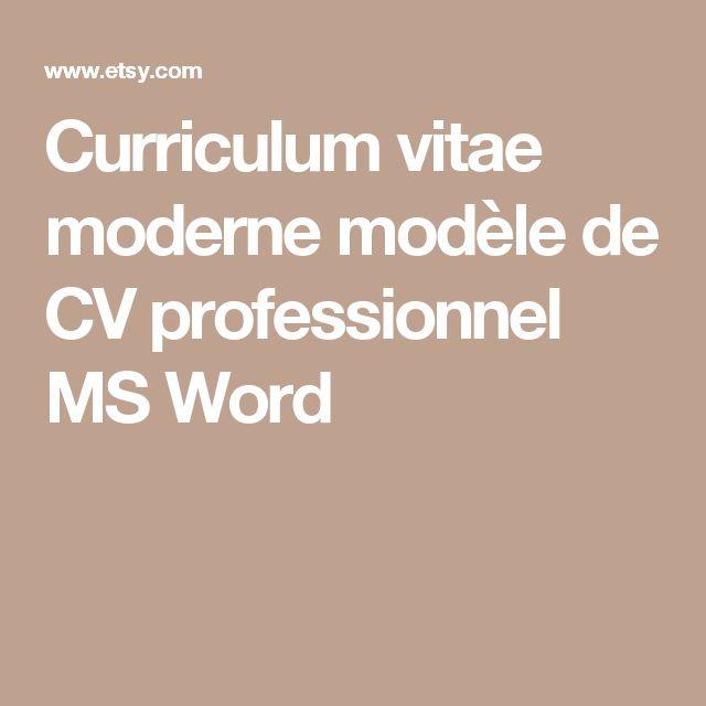 Curriculum vitae moderne modèle de CV professionnel MS Word