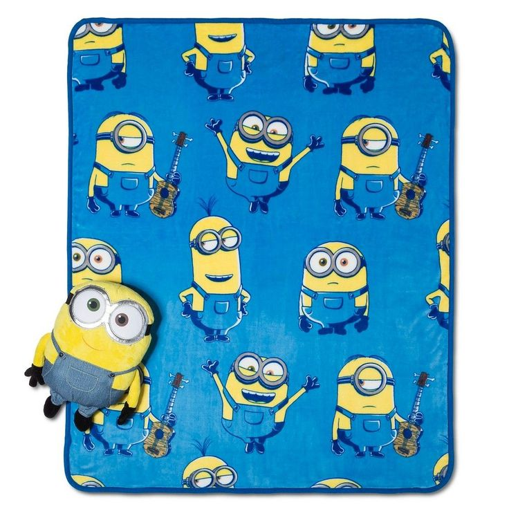 "Despicable Me Minion Pillow and Throw Set -  (40""X50"")"