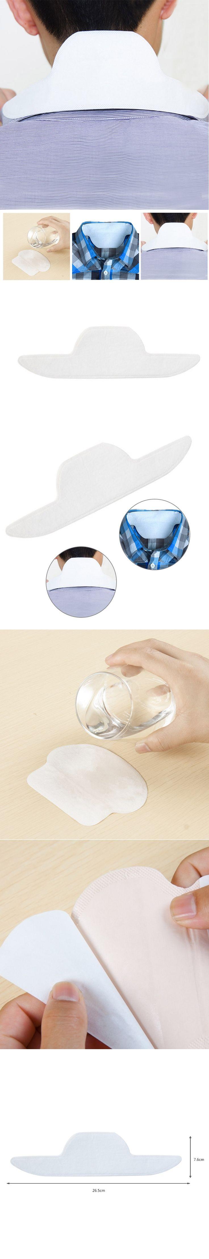 ELECOOL 8PCS Disposable Collar Sweat Pads Adhesive Guard Sheet Liner Dress Shield Sweating Man Neck Tie Antiperspirant Deodorant