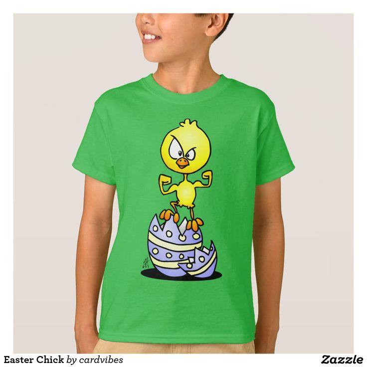 Easter Chick T-Shirt. #Easter #Tshirt #EasterChick #EasterEgg #Zazzle #Cardvibes #Tekenaartje #NEW