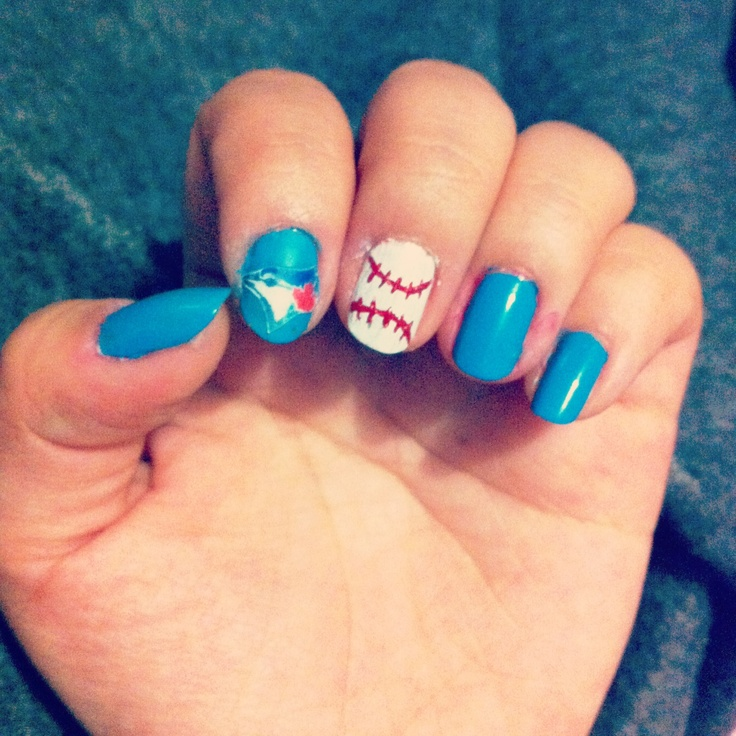 Blue Jays Nail Design Best Images About Nails On Art Minion