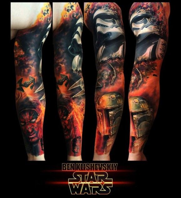 Not into star wars tats. But wow, great work