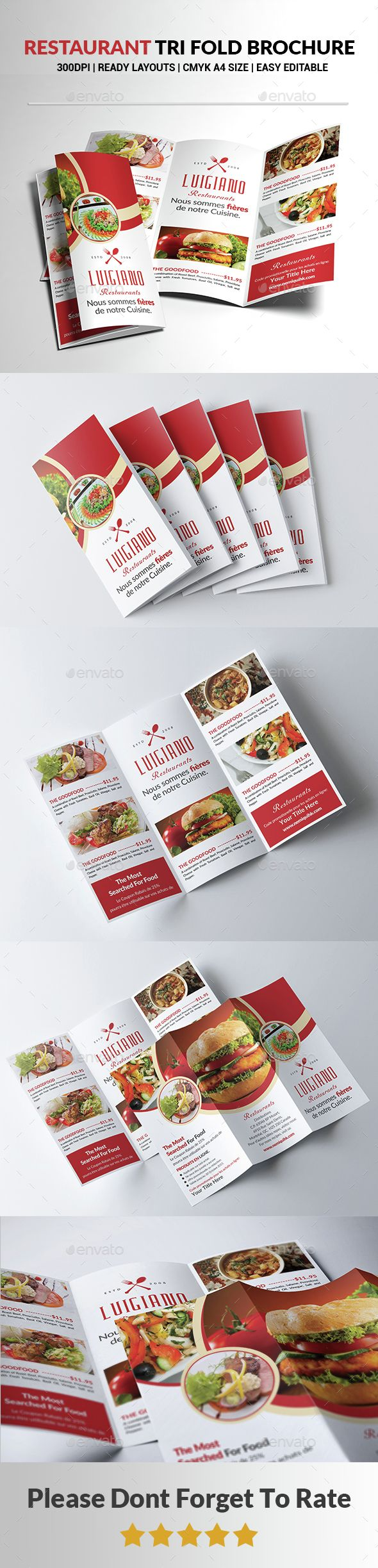 Restaurant Tri Fold Brochure Template PSD. Download here: http://graphicriver.net/item/restaurant-tri-fold-brochure-/14597138?ref=ksioks