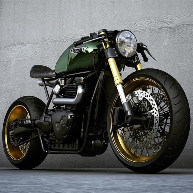 🏁 by CAFE RACER | TAG: #caferacergram | Here's another look at the Custom Triumph concept by @ziggymoto #ziggymoto #triumph #triumphofficial #fortheride #caferacer #caferacers #🏍 🔹See more on our profile or at facebook.com/caferacers