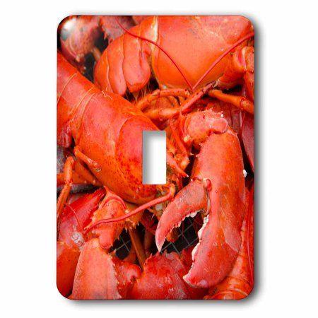 3dRose Massachusetts, Marthas Vineyard. Traditional New England lobster bake., 2 Plug Outlet Cover