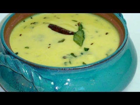 Gujarati Kadhi - Hot Yogurt Soup via Show me the Curry.  Printable recipe at http://www.showmethecurry.com/2007/04/14/gujarati-kadhi/
