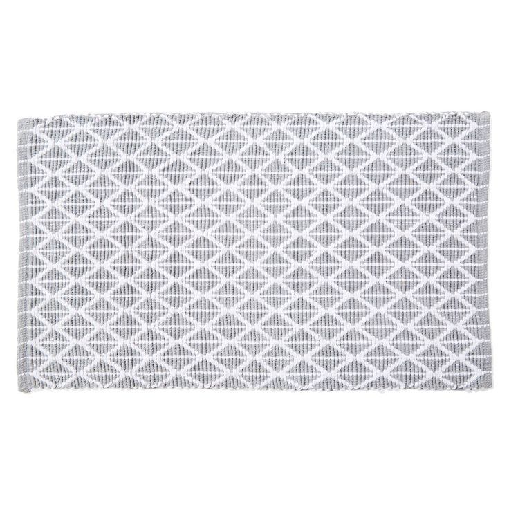 grey & Wht Cotton Bathmathomemaker Woven