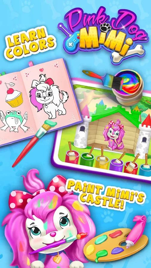 Pink Dog Mimi - My Virtual Pet- screenshot
