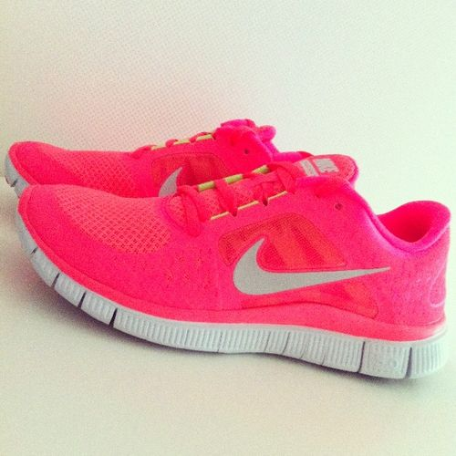 neon nike sneakers my fave of all time frees2014