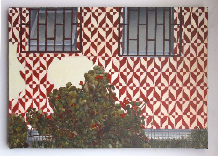 Pintura: Organico - Social  Calle Las Heras, Concepción 60x40 cm Técnica: Acrilico sobre tela crea TAP II - Artes Visuales / UdeC  Segundo Semestre 2015