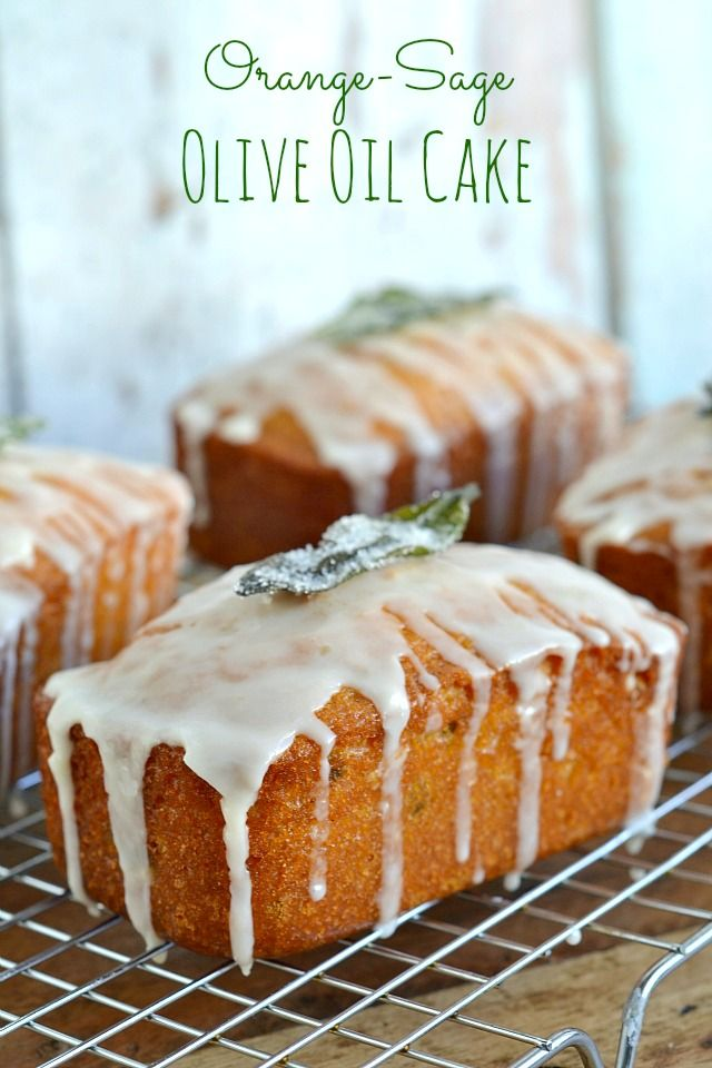 Orange-Sage Olive Oil Cake