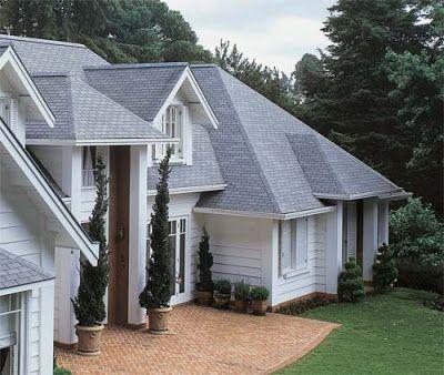 modelos de telhados de casas | telhado de estilo americano com inclinação de 160 graus. Feito com ...